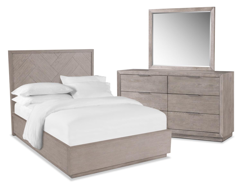 Zen 5-Piece Queen Bedroom Set - Urban Gray