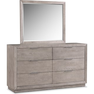 Zen Dresser and Mirror - Urban Gray
