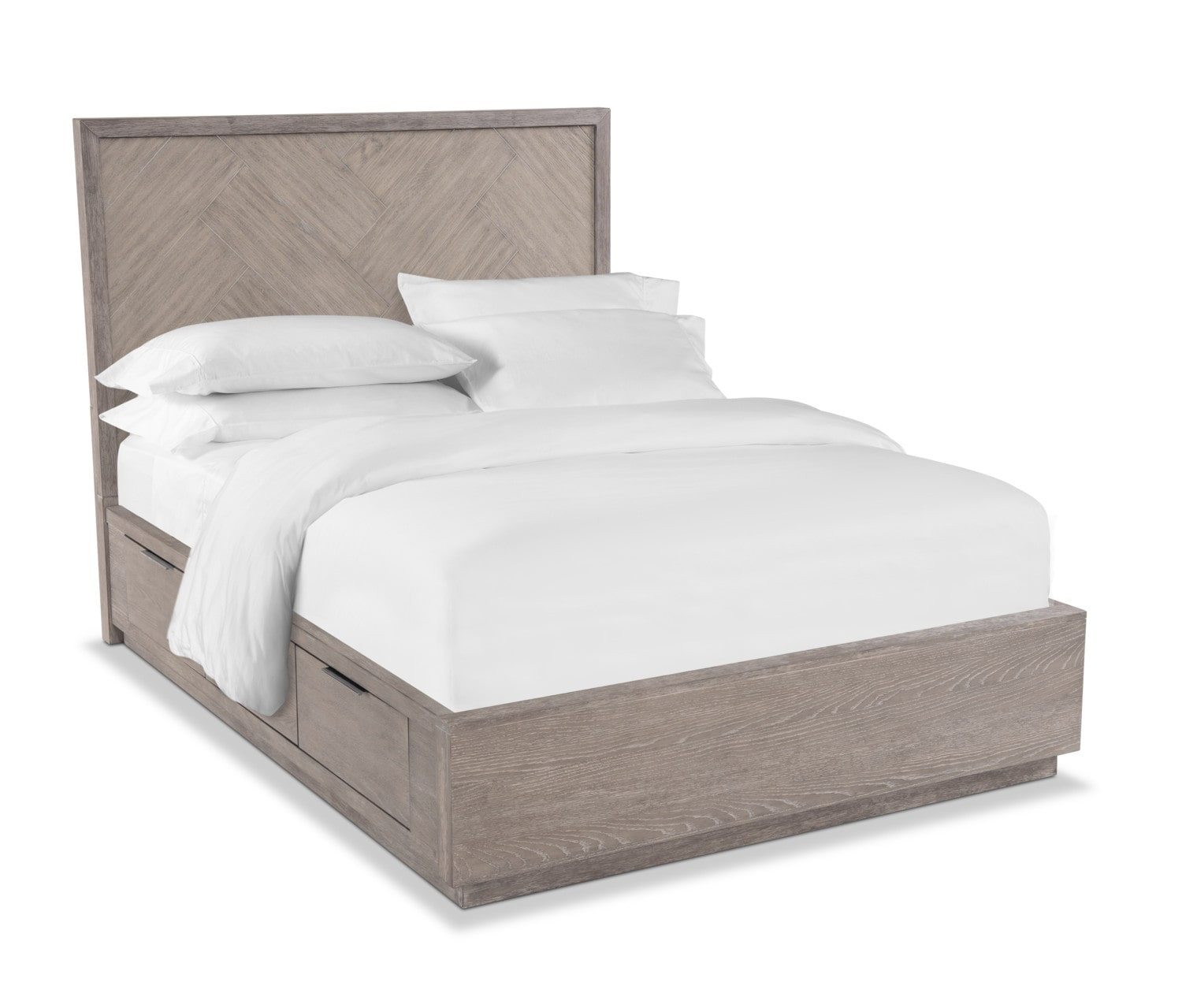 Bedroom Furniture - Zen Queen Storage Bed - Urban Gray