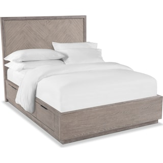 Zen King Storage Bed - Urban Gray