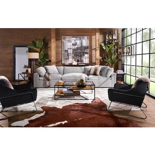 Plush 3-Piece Sofa
