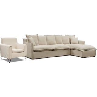 Reid 2-Piece Sectional with Chaise and Accent Chair
