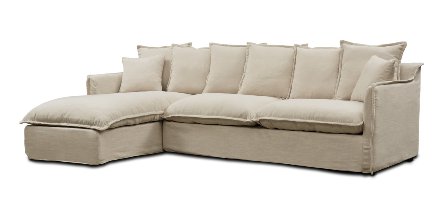 Living Room Furniture - Reid 2-Piece Sectional with Chaise