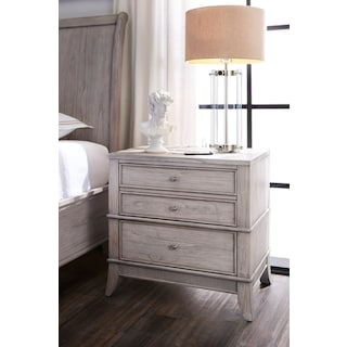 Hazel 2-Drawer Nightstand - Water White