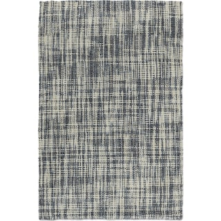 Plaid 8' x 10' Area Rug - Slate and Ivory