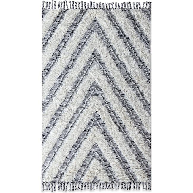 Rugs - Estes Shag 8' x 10' Area Rug - Ivory/Black