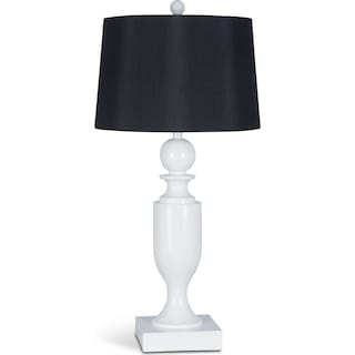 Table Lamp - Glossy White