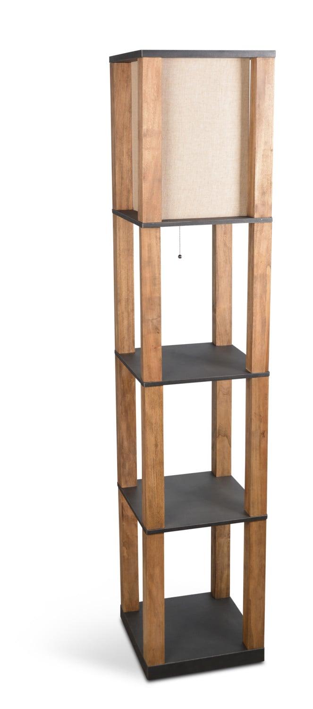 Home Accessories - Antique Wood Floor Lamp