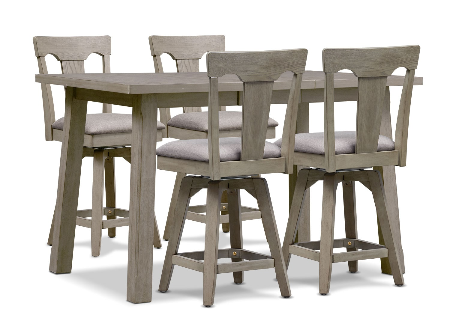 Dining Room Furniture - Maxton Counter-Height Table and 4 Stools - Graystone