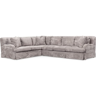 Campbell Comfort 2-Piece Sectional with Right-Facing Sofa - Cement
