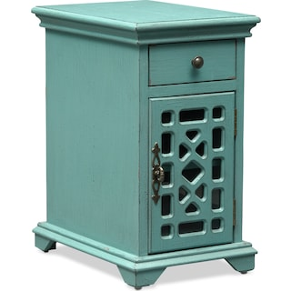 Grenoble Chairside Table - Distressed Teal