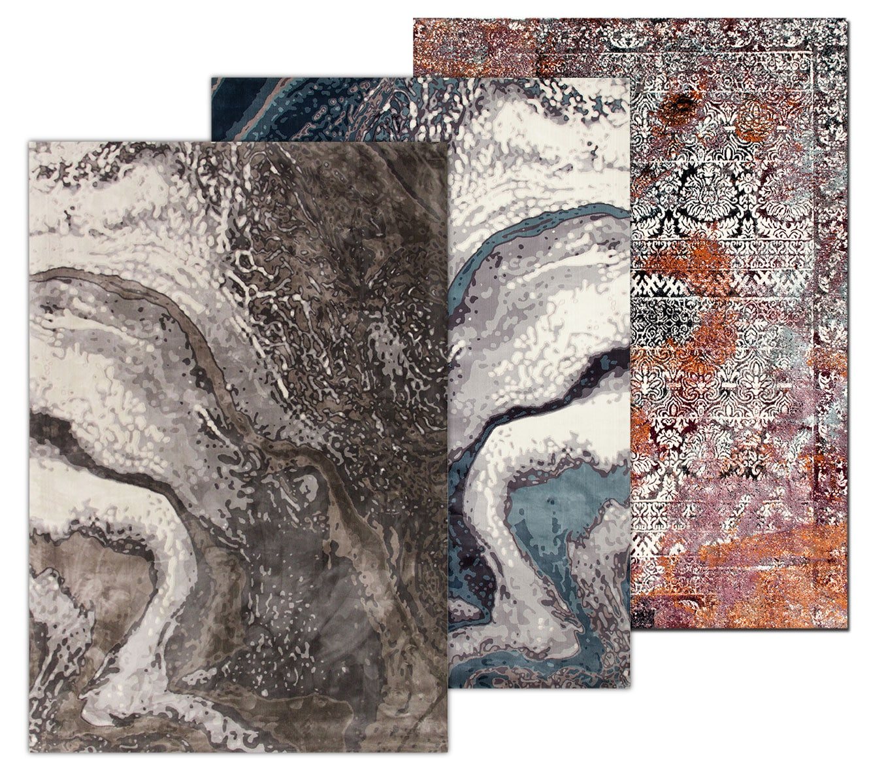 The Titanium Area Rug Collection