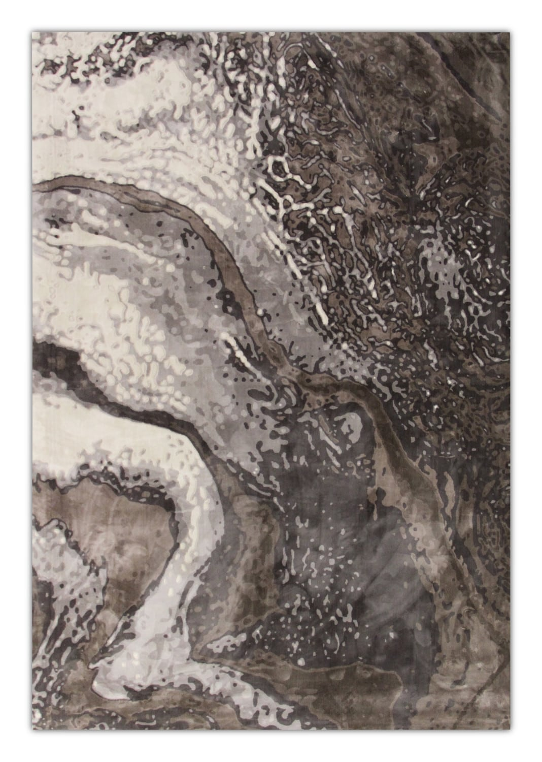 Rugs - Titanium Area Rug - Gray