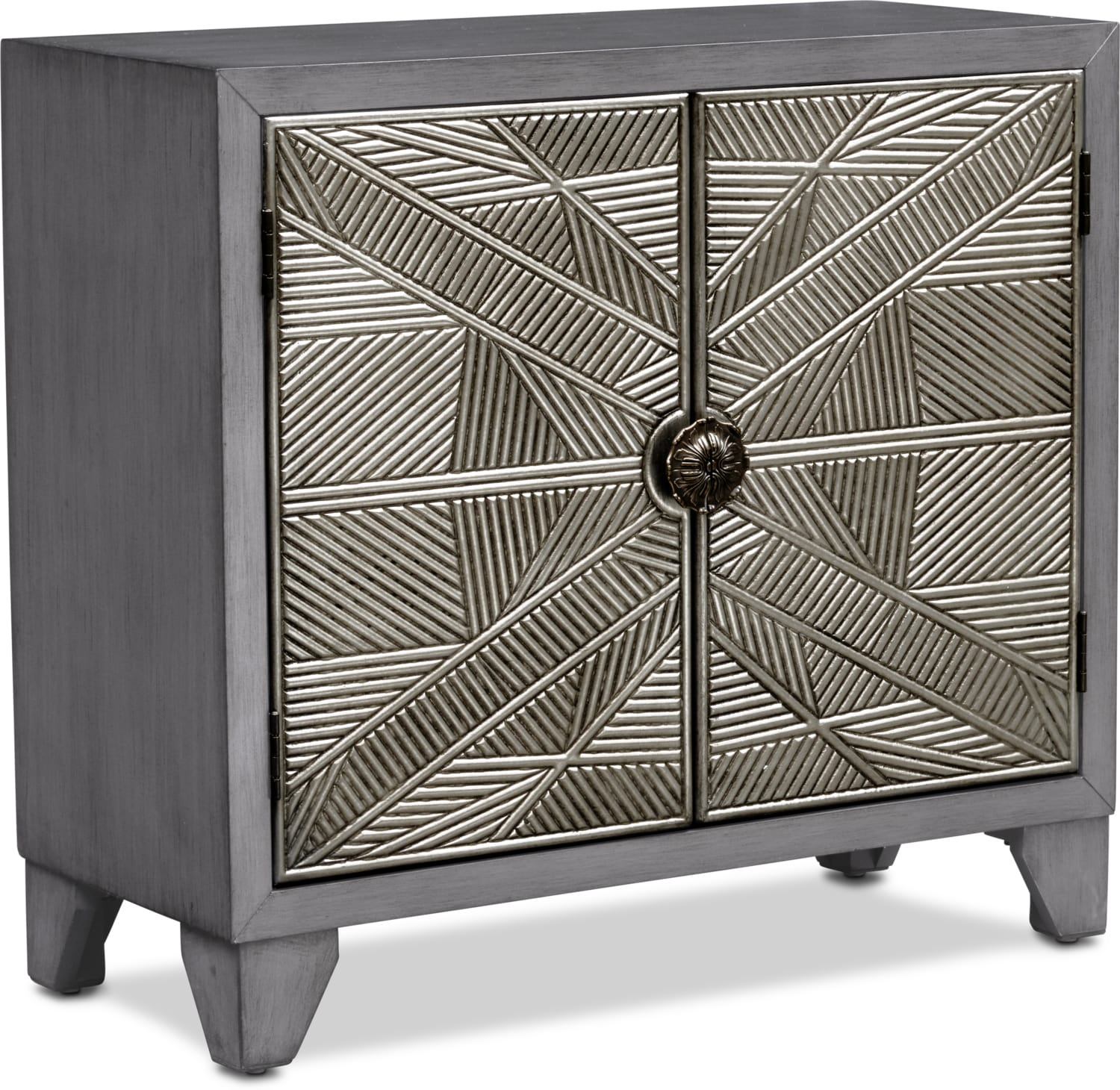 Accent and Occasional Furniture - Olivia Cabinet - Silver