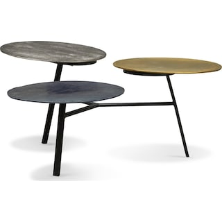Ezra Three-Tier Coffee Table - Metallic