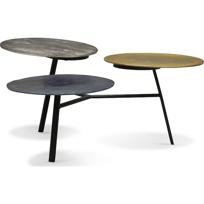 Accent and Occasional Furniture - Ezra Three-Tier Coffee Table