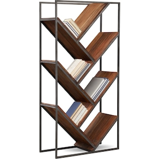 Woodford Bookcase - Dark Brown