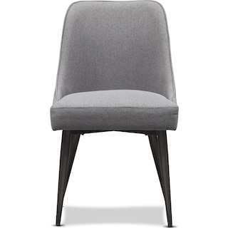 Lillian Upholstered Side Chair - Charcoal