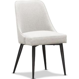Lillian Upholstered Side Chair - Light Gray