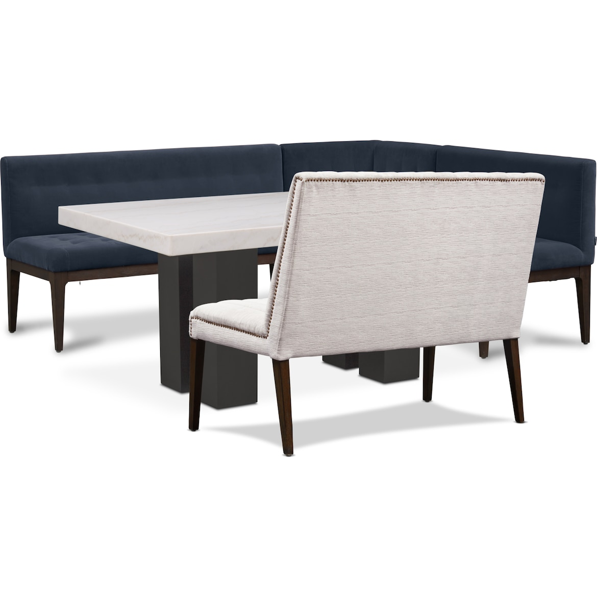 Banquette Table: Artemis Dining Table, Corner Banquette, And Bench