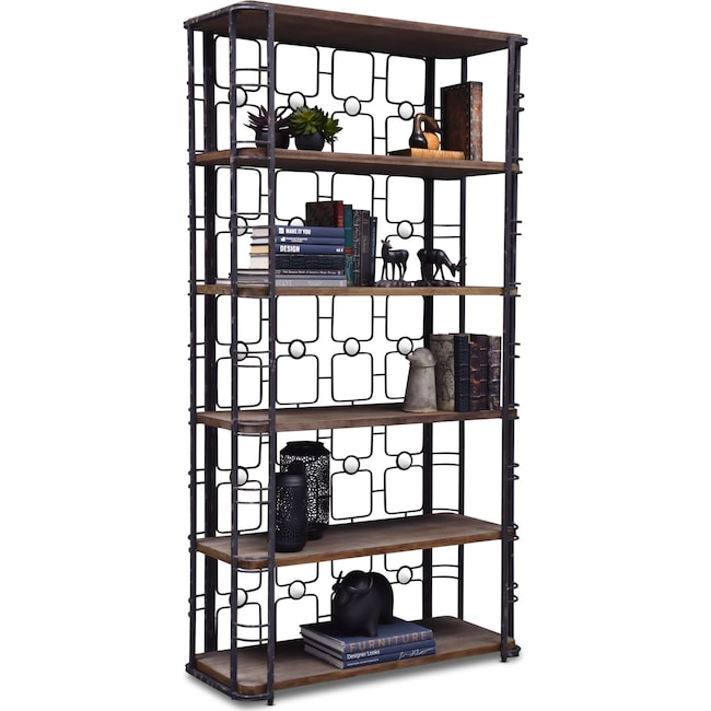 Home Office Furniture - Veronica Bookcase - Antique Black