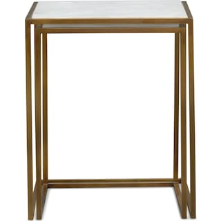 Evie Nesting End Tables - Marble