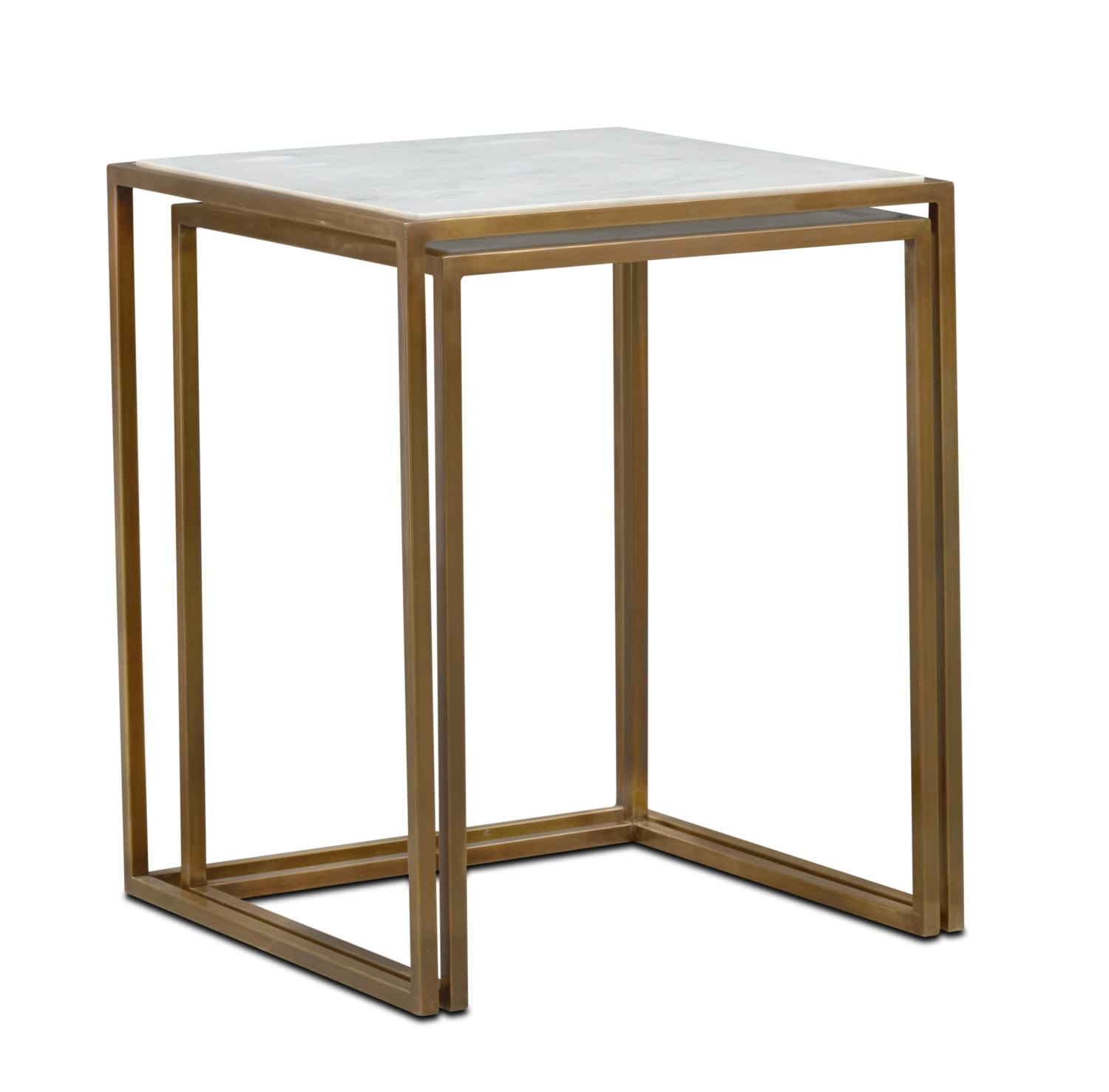 Accent and Occasional Furniture - Evie Nesting End Tables - Marble