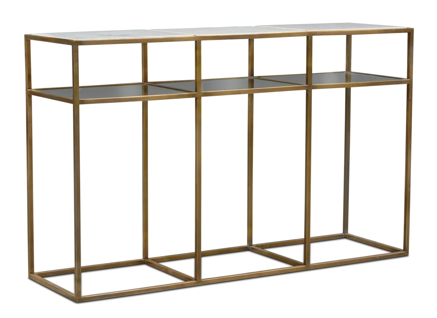 Accent and Occasional Furniture - Evie Sofa Table - Marble