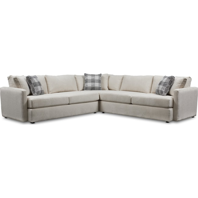 Living Room Furniture - Garrett 3-Piece Sectional