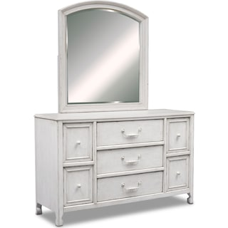 Florence Dresser and Mirror - Antique Linen