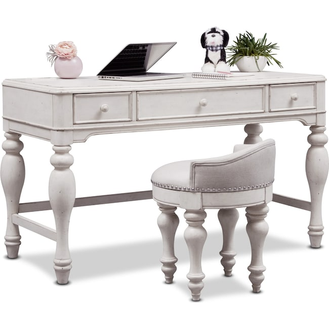 Bedroom Furniture - Florence Vanity Desk and Stool
