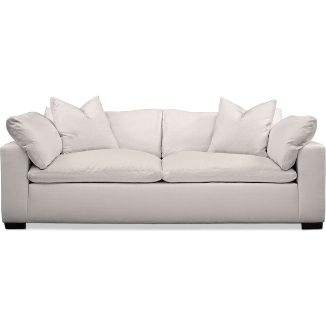 Living Room Furniture - Plush Sofa - Ivory