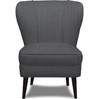 Gwen Accent Chair - Depalma Charcoal