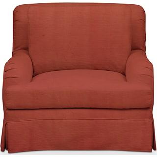 Campbell Comfort Chair - Modern Velvet Cayenne