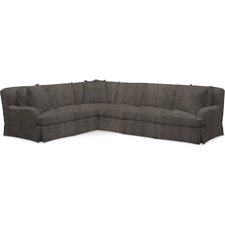 Campbell Comfort 2 Piece Sectional with Right-Facing Sofa - Synergy Mahogany
