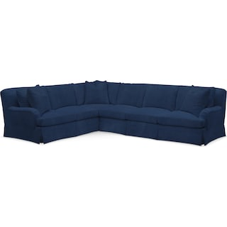 Campbell Comfort 2 Piece Sectional with Right-Facing Sofa - Toscana Navy
