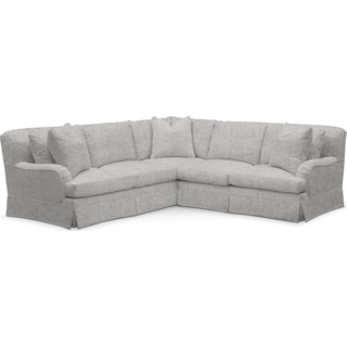 Campbell Comfort 2 Piece Small Sectional with Right-Facing Loveseat - Everton Gray