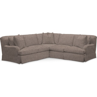 Campbell Comfort 2 Piece Sectional with Right-Facing Loveseat - Mason Flint