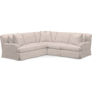Campbell Comfort 2 Piece Sectional with Right-Facing Loveseat - Mason Porcelain