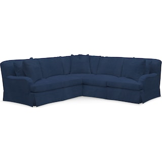 Campbell Comfort 2 Piece Sectional with Right-Facing Loveseat - Toscana Navy