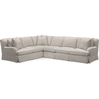 Campbell Cumulus 2 Piece Sectional with Right-Facing Sofa - Living Large White