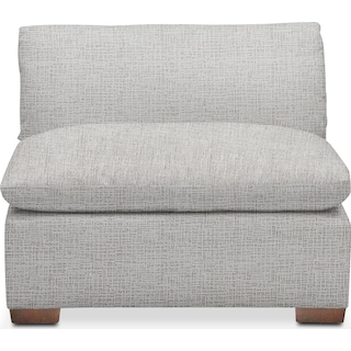 Plush Armless Chair - Everton Gray