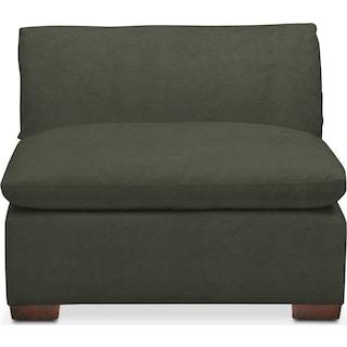 Plush Armless Chair - Toscana Olive