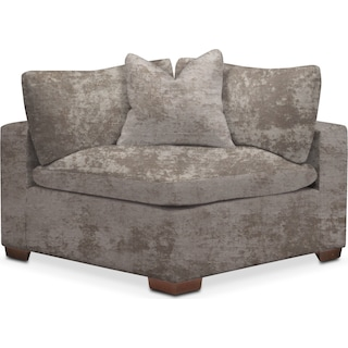 Plush Corner Chair - Hearth Cement