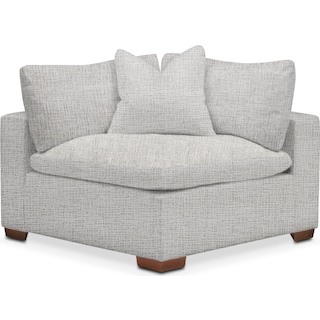 Plush Corner Chair - Everton Gray