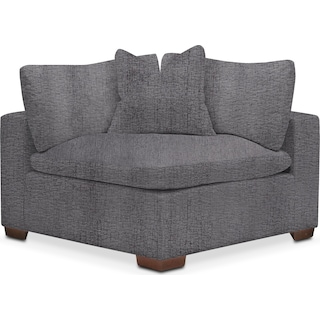 Plush Corner Chair - Living Large Charcoal