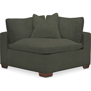 Plush Corner Chair - Toscana Olive