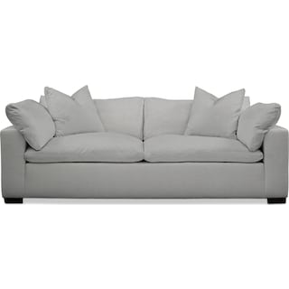 Plush Sofa - Dudley Gray