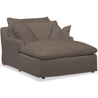 Plush Chaise - Hugo Mocha