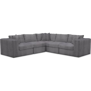 Collin Comfort 5 Piece Sectional - Living Large Charcoal